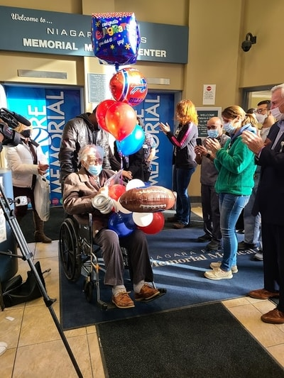 COVID Patient and Bills Fan Gets Released Before Playoffs