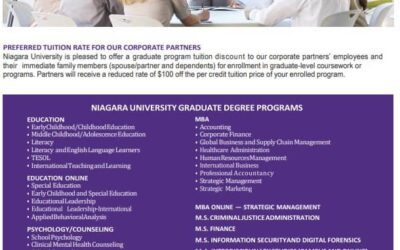 Niagara University To Offer NFMMC Discounted Tuition Rate